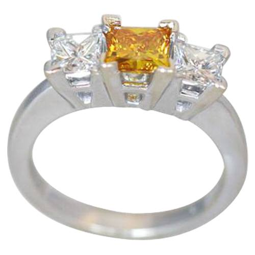 Ring Mounting for Princess Cut 3 Stone