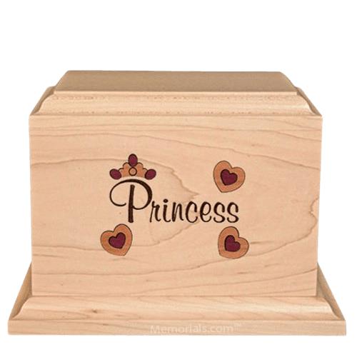 Princess Children Wood Urn