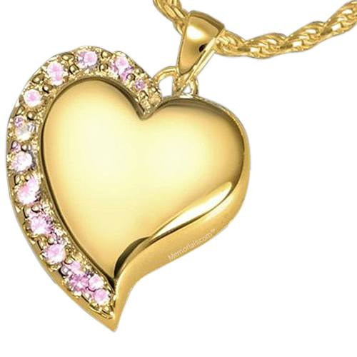Princess Heart Cremation Pendant II