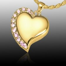 Princess Heart Cremation Pendant IV