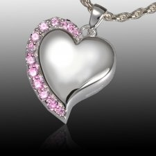 Princess Heart Cremation Pendant