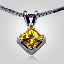 Princess V Shape Prong Pendant