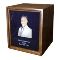 Photo Wood Cremation Urns
