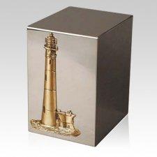 Pristino Coastal Lighthouse Steel Urn