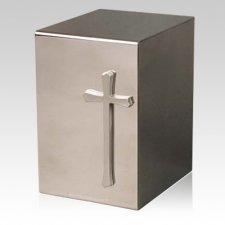 Pristino Cruz Steel Urn