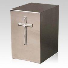 Pristino Modern Cross Steel Urn