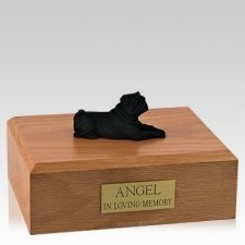 Pug Black Resting Dog Urns