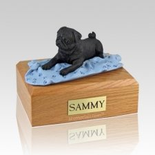 Pug Black with Blanket Dog Urns