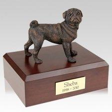 Pug Bronze Dog Urns