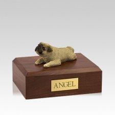 Pug Fawn Laying Medium Dog Urn