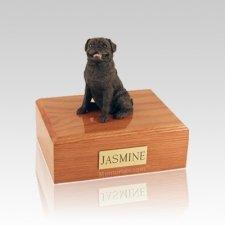 Pug Sitting Black Small Dog Urn
