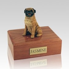 Pug Sitting Dog Urns