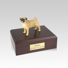 Pug Standing Small Dog Urn
