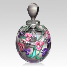 Purple & Pink Floral Keepsake Urn