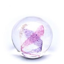 Purple & Pink Swirl Medium Memory Glass Keepsake