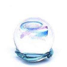 Purple & Sky Blue Galaxy Medium Memory Glass Keepsake