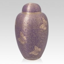 Purple Butterfly Cremation Urn