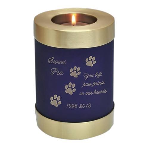 Blue Candle Pet Cremation Urn