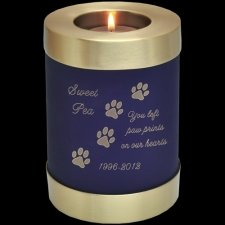 Blue Candle Pet Keepsake Cremation Urn