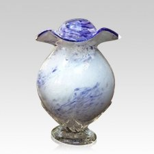 Purple Cloud Glass Cremation Urns