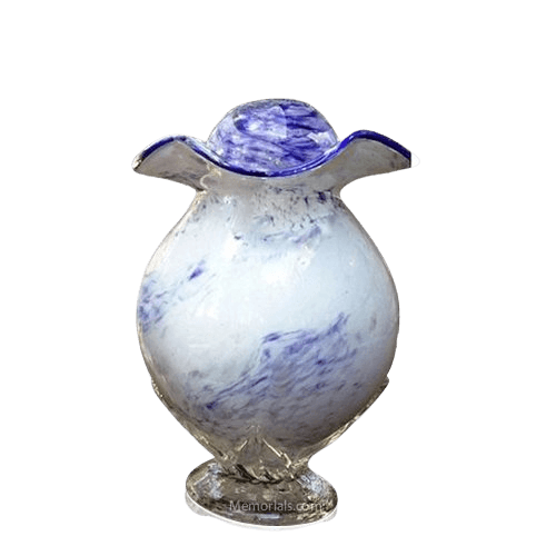 Purple Cloud Glass Keepsake Cremation Urn