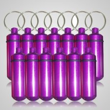 Purple Cremation Discount Keychains