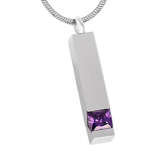 Purple Cremation Necklace