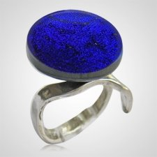 Purple Memorial Ashes Ring