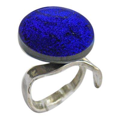 Purple Memorial Ashes Ring