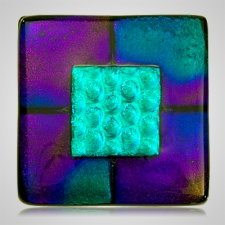 Purple Memorial Cremation Ashes Tile