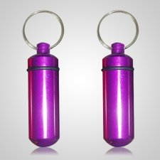 Purple Pet Keepsake Keychains