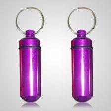 Purple Pet Keepsake Keychains