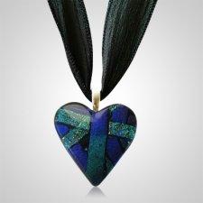 Purple Small Heart  Ashes Pendant