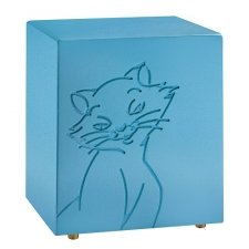 Purring Blue Cat Urn