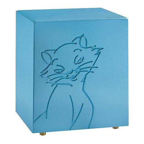 Purring Blue Cat Urn