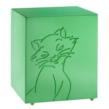 Purring Green Cat Urn