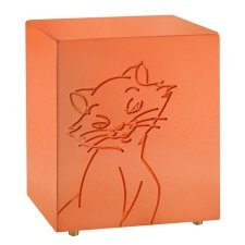 Purring Orange Cat Urn