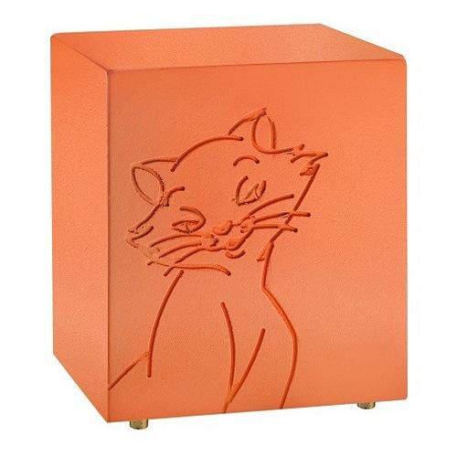 Purring Orange Cat Urn