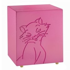 Purring Pink Cat Urn
