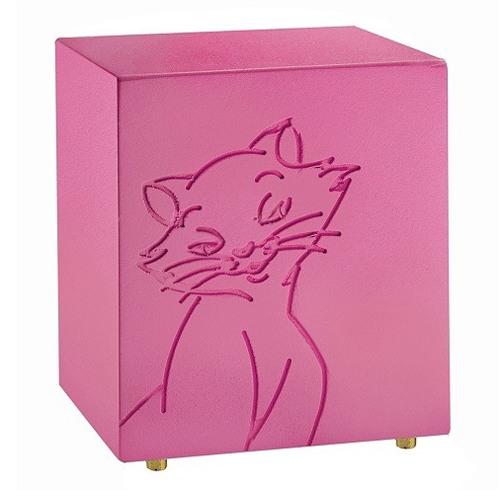 Purring Pink Cat Urn