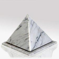 Pyramid Bianco Stone Pet Urn