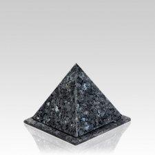 Pyramid Blue Pearl Granite Keepsake Urn