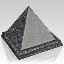 Pyramid Blue Pearl Granite Urn