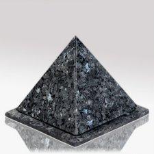 Pyramid Blue Stone Pet Urn