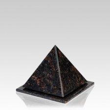 Pyramid Tan Brown Granite Keepsake Urn