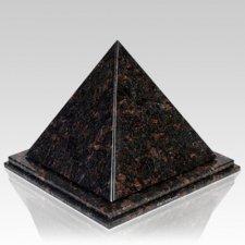 Pyramid Tan Brown Granite Urn