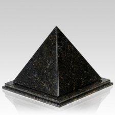 Pyramid Verde Granite Urn