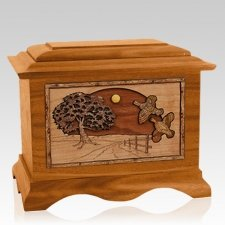Quail Mahogany Cremation Urn