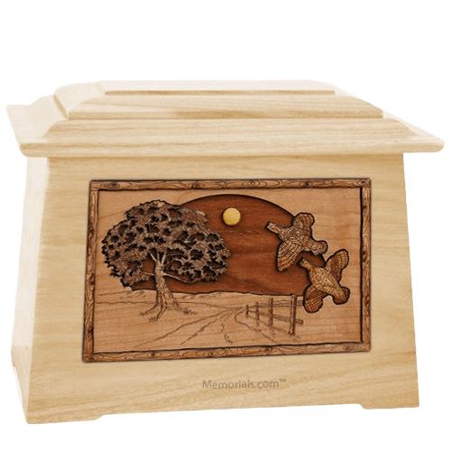Quail Maple Aristocrat Cremation Urn