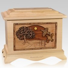 Quail Maple Cremation Urn